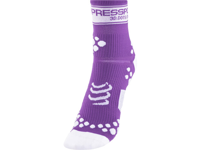 Compressport Racing V2 Chaussettes, fluo purple